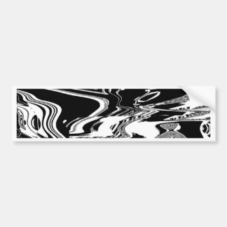 BW Glitch 1 (BW) Bumper Sticker