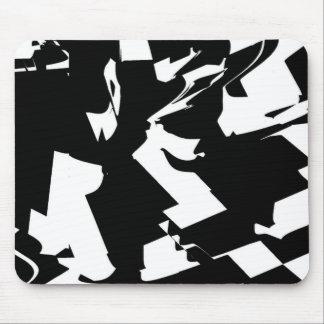BW Glitch 2(BW) Mouse Pad