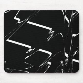 BW Glitch 3 (BW) Mouse Pad