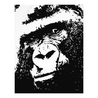 "BW Gorilla Face 8.5"" X 11"" Flyer"