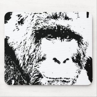 BW Gorilla Face Mouse Pad