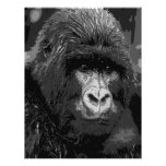 BW Gorilla Face Personalized Letterhead