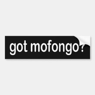 BW_got_mofongo Etiqueta De Parachoque