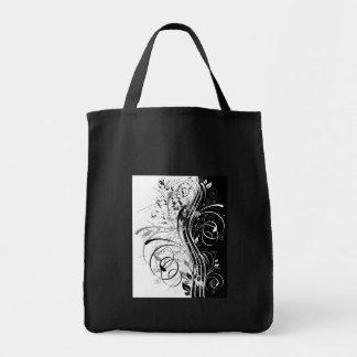BW grunge Tote Bags