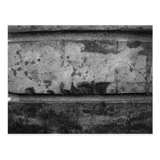 BW Grunge Brick Texture Photography Postcard