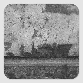 BW Grunge Brick Texture Photography Square Sticker