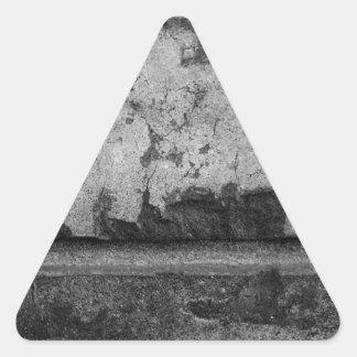 BW Grunge Brick Texture Photography Triangle Sticker