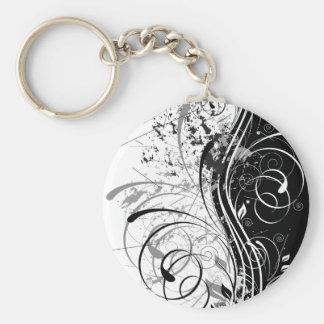 BW grunge Keychain