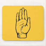 bw hand mouse pads