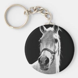 BW Horse Keychain