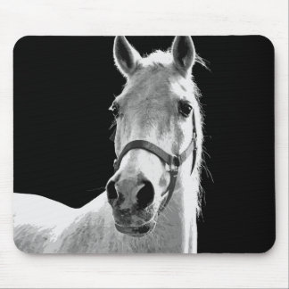BW Horse Mouse Pad
