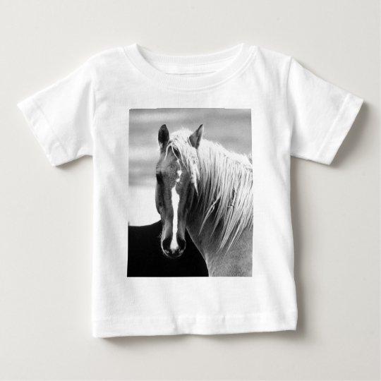 BW Horse Portrait Baby T-Shirt