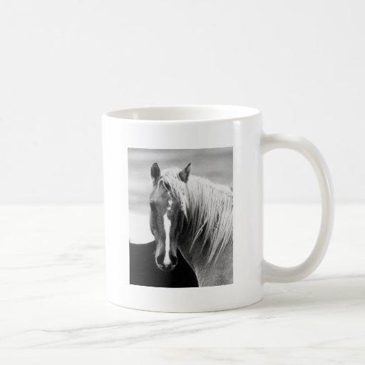 BW Horse Portrait Classic White Coffee Mug