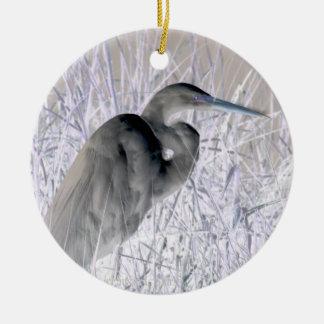 bw invertido del egret frecuentado adorno