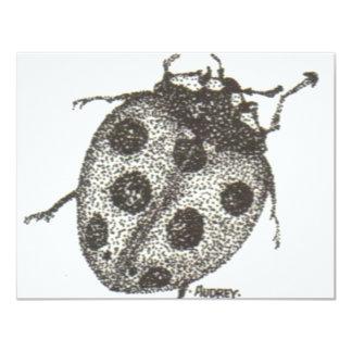 """bw_ladybug05 invitación 4.25"""" x 5.5"""""""