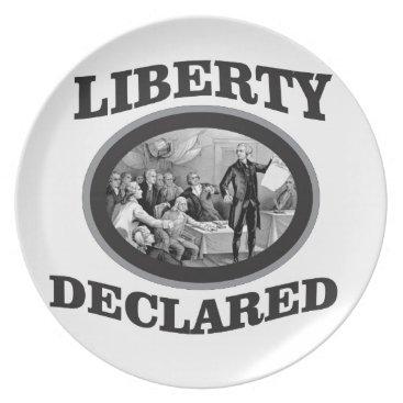 bW liberty declared Melamine Plate