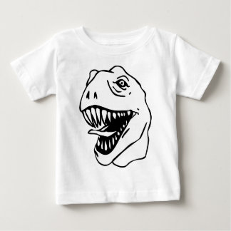 BW Lineart T Rex Baby T-Shirt
