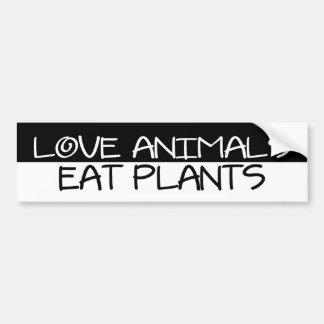 BW_love_animals Bumper Sticker