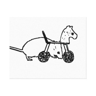 bw mouse outline hobby horse cute animal design canvas prints