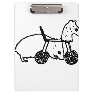 bw mouse outline hobby horse cute animal design clipboard