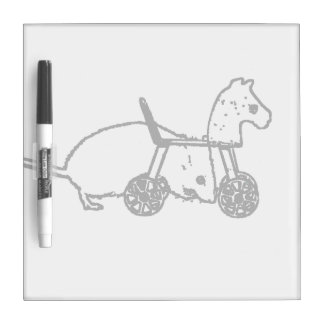 bw mouse outline hobby horse cute animal design dry erase board