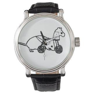 bw mouse outline hobby horse cute animal design watch