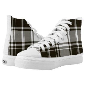 BW Plaid Zipz High Top Shoes Women