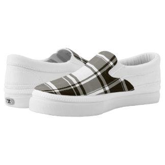 BW Plaid Zipz Slip On Shoes