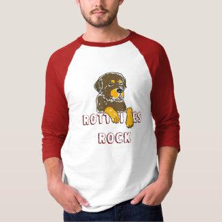 BW- Rotties Rock Rottweiler Cartoon Shirt