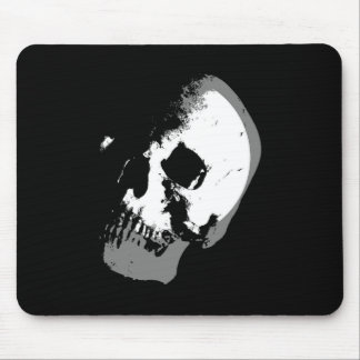 BW Skull Pop Art Mouse Pad