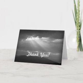 BW Sky Thank You Card