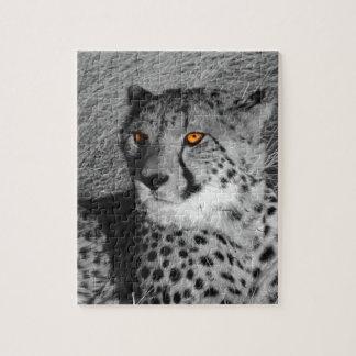 BW Splash Cheetah Jigsaw Puzzle