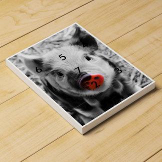 BW splash sweet piglet Chocolate Countdown Calendar