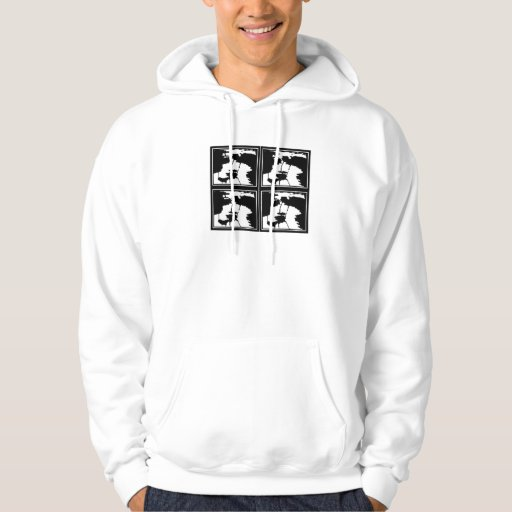 BW squares Hooded Pullover