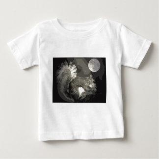 BW Squirrel & Moon Baby T-Shirt