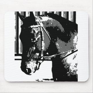 BW Stallion Horse Mouse Pad