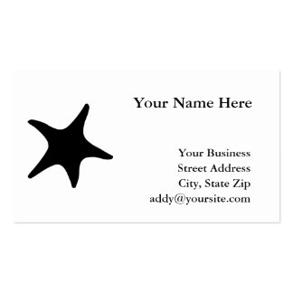 BW Starfish Double-Sided Standard Business Cards (Pack Of 100)