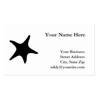 BW Starfish Business Card Templates