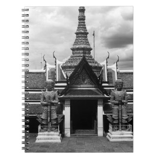 BW Tailandia Bangkok Wat Phra Kaeo 1970 embarazada Libros De Apuntes Con Espiral