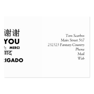 BW Thank you Large Business Cards (Pack Of 100)