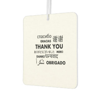 BW Thank you Car Air Freshener