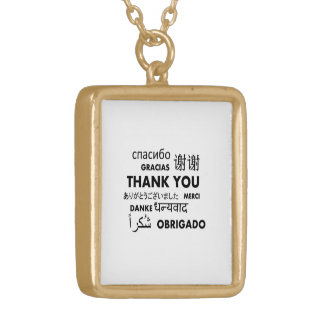BW Thank you Gold Plated Necklace