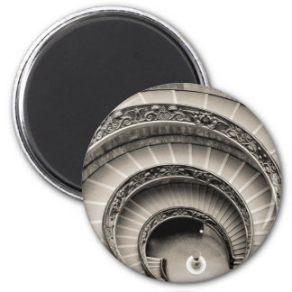 BW Vatican Spiral Stair Magnet