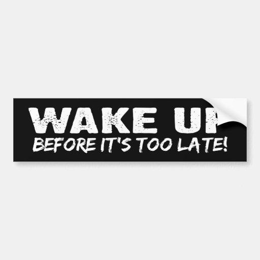 BW_wake_up Pegatina De Parachoque
