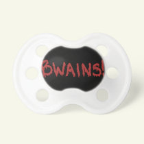 """""""BWAINS!"""" Baby Scary Halloween Zombie Pacifier"""