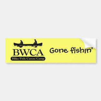 BWCA/campo de la canoa de los pescados del alza Pegatina Para Auto