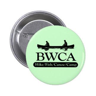 BWCA/campo de la canoa de los pescados del alza Pin Redondo De 2 Pulgadas