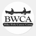 BWCA / Hike Fish Canoe Camp Classic Round Sticker