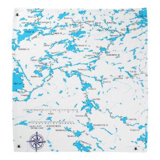 BWCA map Malberg Lk Bandana
