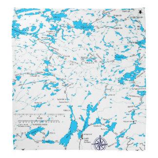 BWCA map Sawbill Bandana